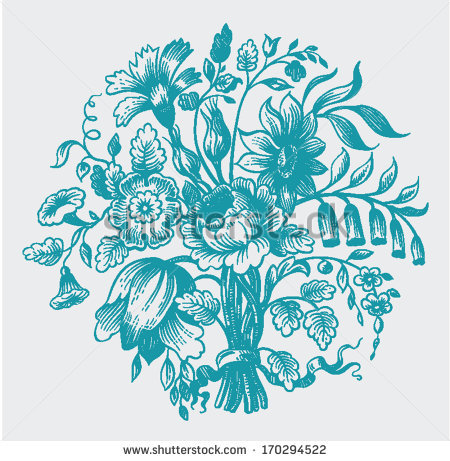 stock-vector-engraving-ornament-of-a-flower-bouquet-170294522